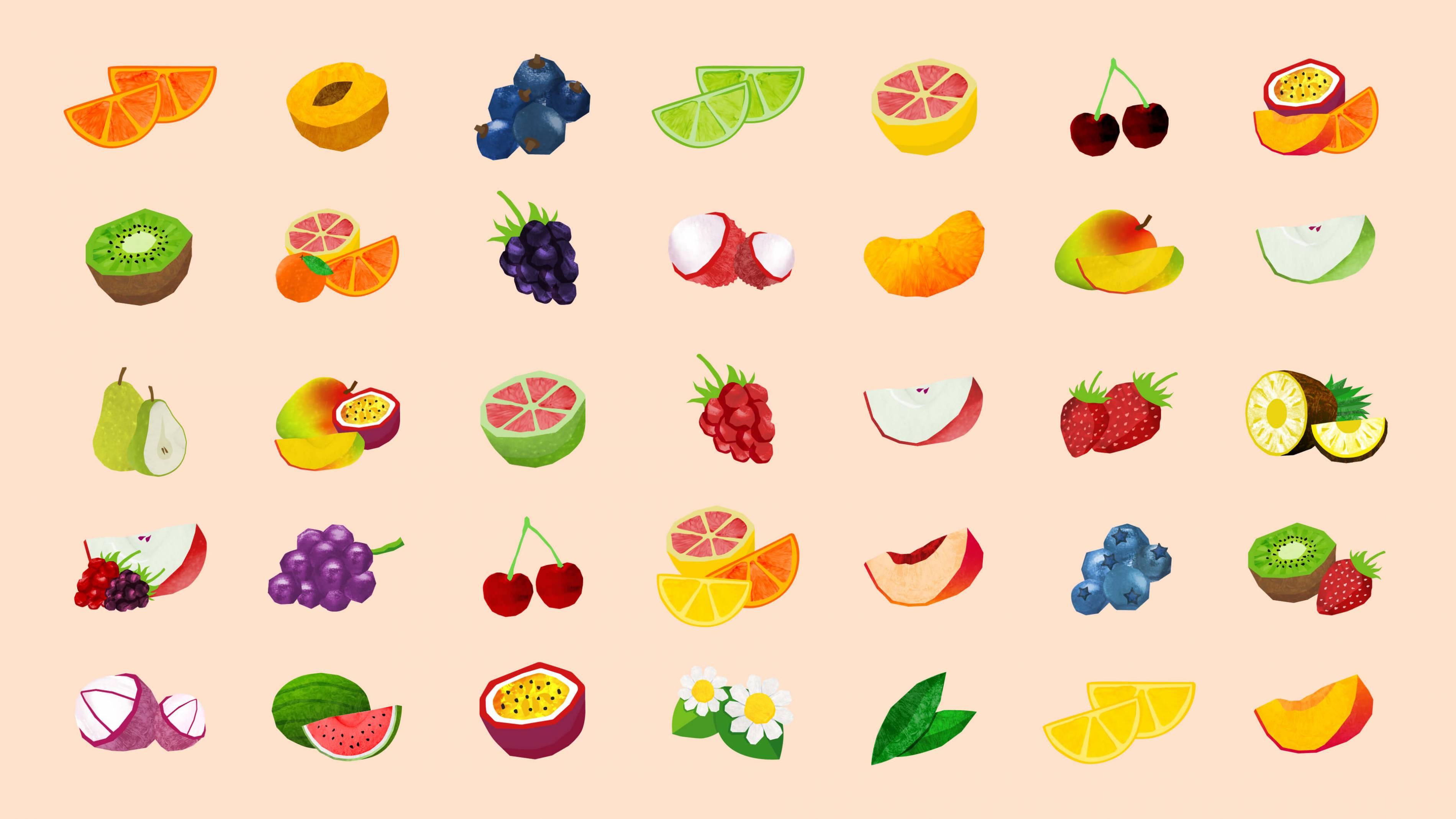 芬达水果插画元素