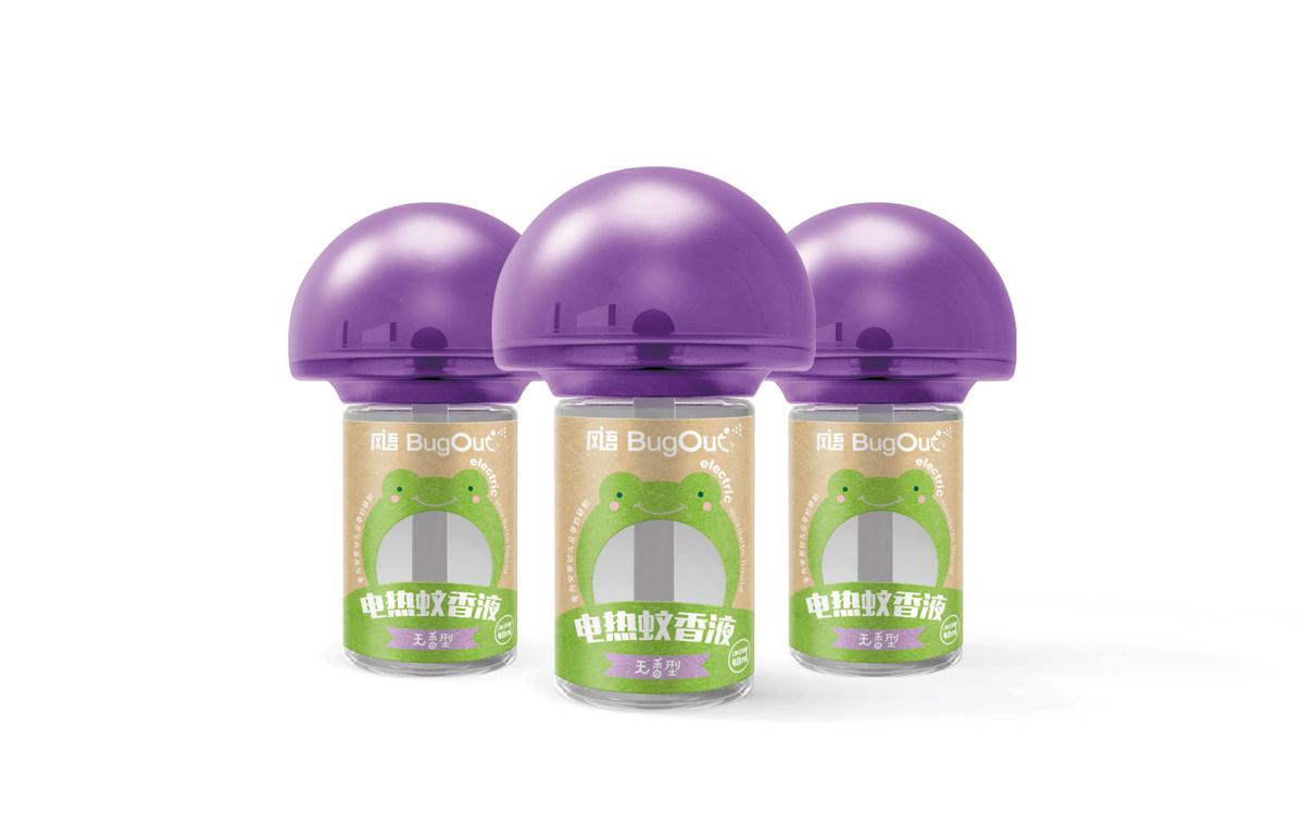 电热蚊香液瓶标设计