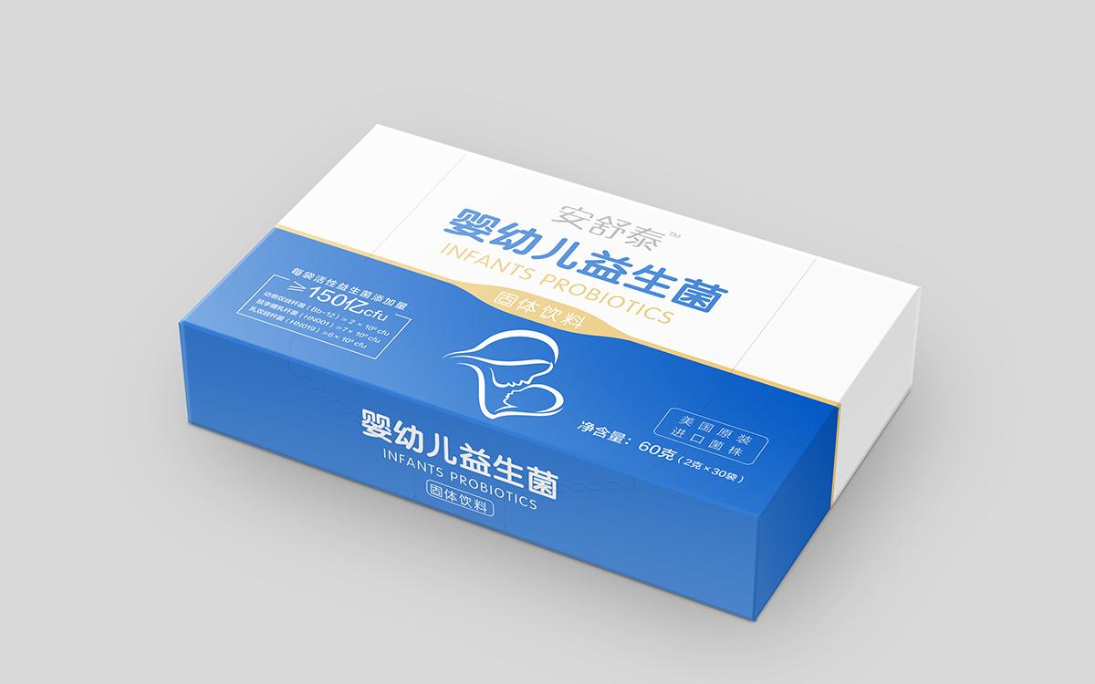 盒装益生菌包装设计